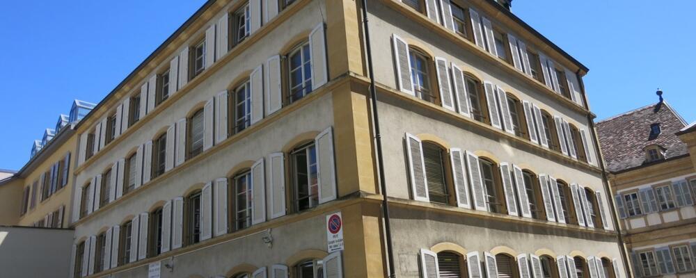 2014: Faubourg de l'Hôpital 9, Neuchâtel